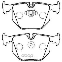 Колодки тормозные дисковые задние к-т (HSB) HP5188