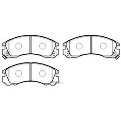Колодки тормозные дисковые Diamante, Montero (HSB) HP5229
