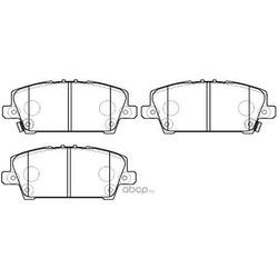 Колодки тормозные дисковые передние к-т (HSB) HP5269