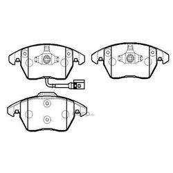 Колодки тормозные дисковые передние к-т (HSB) HP9599