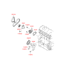 НАТЯЖИТЕЛЬ РЕМНЯ (Hyundai-KIA) 2528127060
