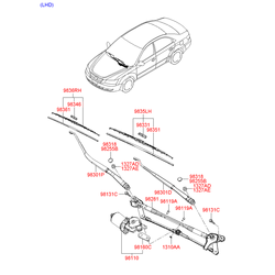 ЩЕТКА СТЕКЛООЧИСТИТЕЛЯ (Hyundai-KIA) 983603K000