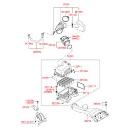 ФИЛЬТР ВОЗДУШНЫЙ (Hyundai-KIA) 281133K200