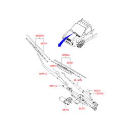ЩЕТКА СТЕКЛООЧИСТИТЕЛЯ (Hyundai-KIA) 983502E010