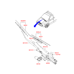 ЩЕТКА СТЕКЛООЧИСТИТЕЛЯ (Hyundai-KIA) 983602E000
