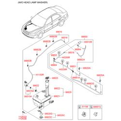 МОТОР ОМЫВАТЕЛЯ (Hyundai-KIA) 985103K010