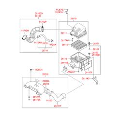 Воздушный фильтр (Hyundai-KIA) S281132H000