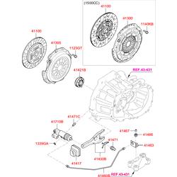 ДИСК СЦЕПЛЕНИЯ (Hyundai-KIA) 4110023035