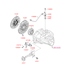 ДИСК СЦЕПЛЕНИЯ (Hyundai-KIA) 4110023580