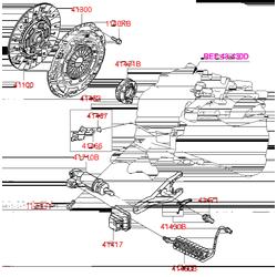 КОРЗИНА СЦЕПЛЕНИЯ CEED SOUL (ДИЗЕЛЬ) (Hyundai-KIA) 4130032021