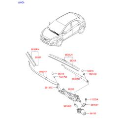 ЩЕТКА СТЕКЛООЧИСТИТЕЛЯ (Hyundai-KIA) 98360A5000