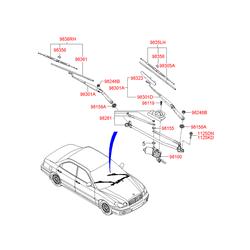 ЩЕТКА СТЕКЛООЧИСТИТЕЛЯ (Hyundai-KIA) 9835038000