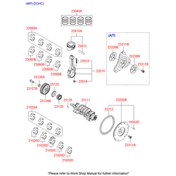 Вкладыши коренные (комплект, 2 шт) (Hyundai-KIA) 2102026220
