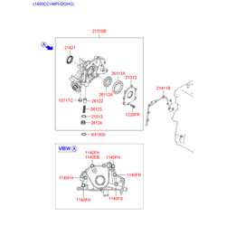 Сальник коленвала elantra lantra (Hyundai-KIA) 2142126600