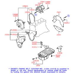 Резьбовая пробка, маслянный поддон (Hyundai-KIA) 2151221000