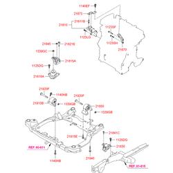 ОПОРНЫЙ УЗЕЛ ДВИГАТЕЛЯ (Hyundai-KIA) 219102H150