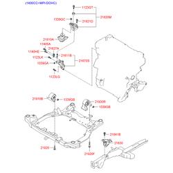 Опора двигателя задняя m/t (Hyundai-KIA) 219301G000