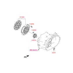 Подшипник выжимной гидравлический, рабочий цилиндр сцепления (Hyundai-KIA) 4142124350