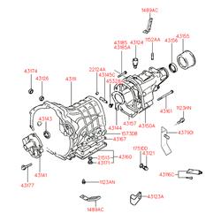 Уплотняющее кольцо, ступенчатая коробка передач (Hyundai-KIA) 4314333000