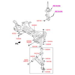 РЫЧАГ ПОДВЕСКИ (Hyundai-KIA) 545012S000