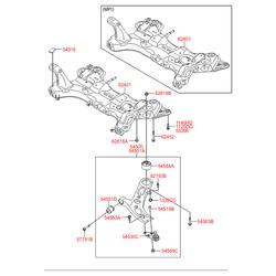 РЫЧАГ ПЕРЕДНЕЙ НИЖНЕЙ ПОДВЕСКИ (Hyundai-KIA) 54501A6200
