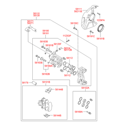 Палец тормозного суппорта (Hyundai-KIA) 581613B010