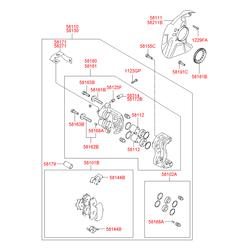 ПАЛЕЦ ТОРМОЗНОГО СУППОРТА (Hyundai-KIA) 581623B000