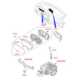 Датчик скорости для легковых автомобилей торговой марки hyundai (Hyundai-KIA) 964200B000