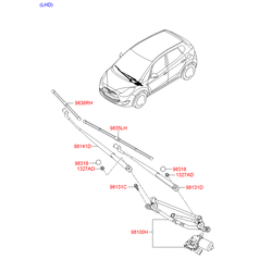 ЩЕТКА СТЕКЛООЧИСТИТЕЛЯ (Hyundai-KIA) 983601P000