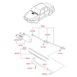 Щетка стеклоочистителя каркасная Basic (Hyundai-KIA) 9836022020