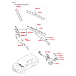 ЩЕТКА СТЕКЛООЧИСТИТЕЛЯ (Hyundai-KIA) 983602V500