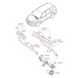 ЩЕТКА СТЕКЛООЧИСТИТЕЛЯ (Hyundai-KIA) 983602W100