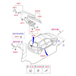 ЩЕТКА СТЕКЛООЧИСТИТЕЛЯ (Hyundai-KIA) 988501J001