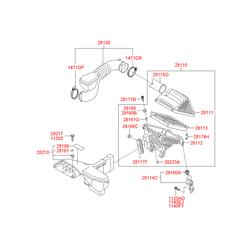 Сменный фильтрующий бумажный элемент для воздушного фильтра двигателя (Hyundai-KIA) S281133S100