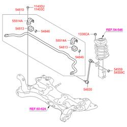Стойка стабилизатора (Hyundai-KIA) S548300U000