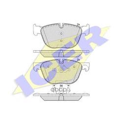 Колодки тормозные дисковые, комплект (Icer) 181919