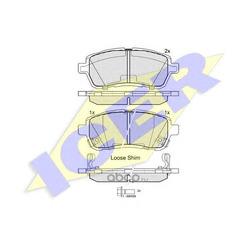 Колодки тормозные дисковые, комплект (Icer) 181881