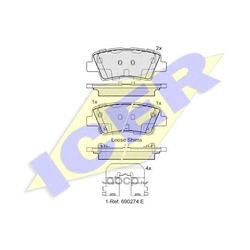 Колодки тормозные дисковые, комплект (Icer) 182036