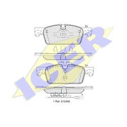 Комплект тормозных колодок, дисковый тормоз (Icer) 182021
