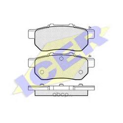 Комплект тормозных колодок, дисковый тормоз (Icer) 180960