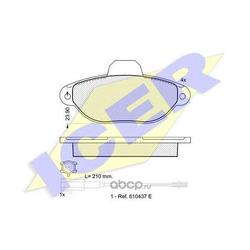 Комплект тормозных колодок, дисковый тормоз (Icer) 181844