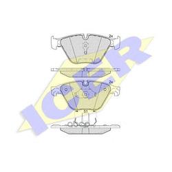 Комплект тормозных колодок, дисковый тормоз (Icer) 181998