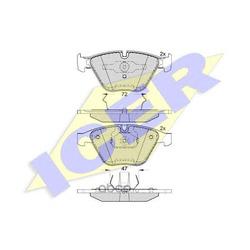 Колодки тормозные дисковые, комплект (Icer) 181814