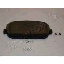 Комплект тормозных колодок, дисковый тормоз (Japanparts) PP311AF
