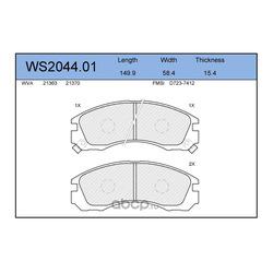 Колодки тормозные дисковые | перед | (JEENICE) WS204401