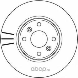 Тормозной диск (Jurid) 562103JC