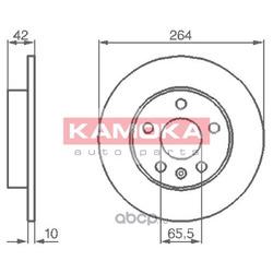 Тормозной диск (KAMOKA) 1032088