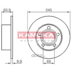 Тормозной диск (KAMOKA) 103642