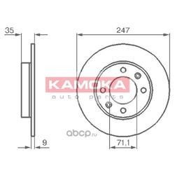Тормозной диск (KAMOKA) 1032356