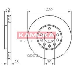 Тормозной диск (KAMOKA) 1032082